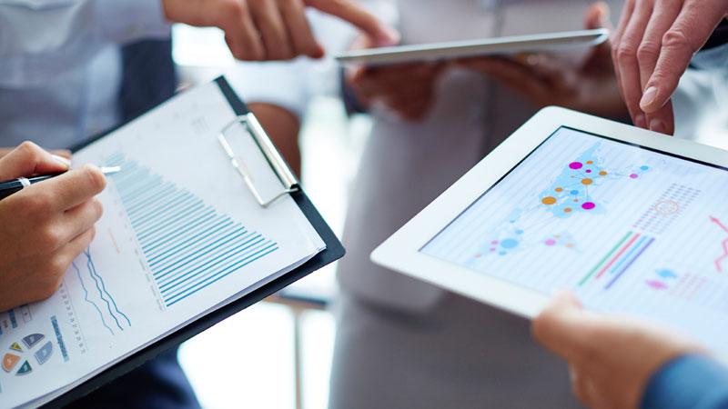 tabletas con gráficos