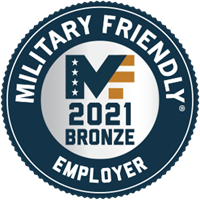 Military Friendly Employer 2021 Bronze Award