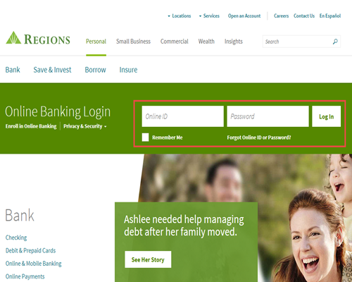 how to log in to regions online banking regions