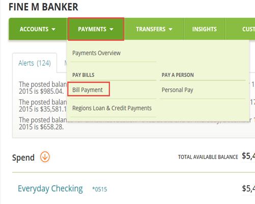 Pay a Bill | Regions