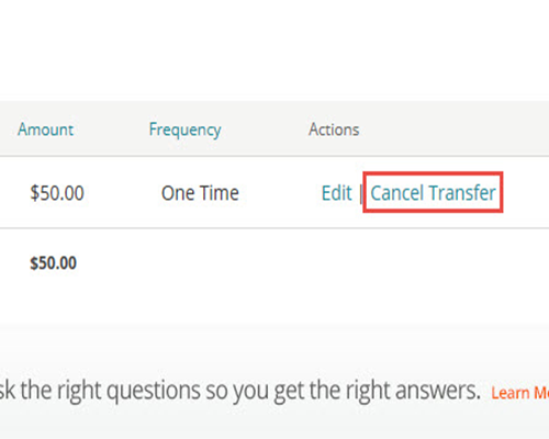 How to Cancel Pending Transfers | Regions