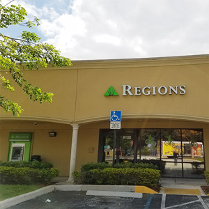 Regions Bank Cooper City in Cooper City