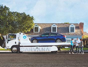 Entrega de un vehícuo de Carvana