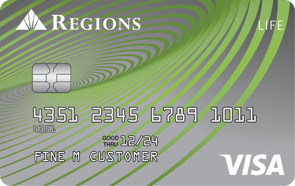 Regions Visa Life Credit Card