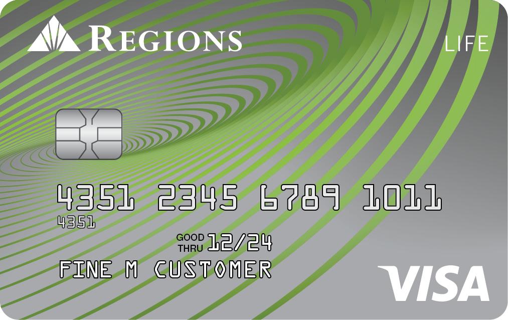 Tarjeta de crédito Visa Life de Regions