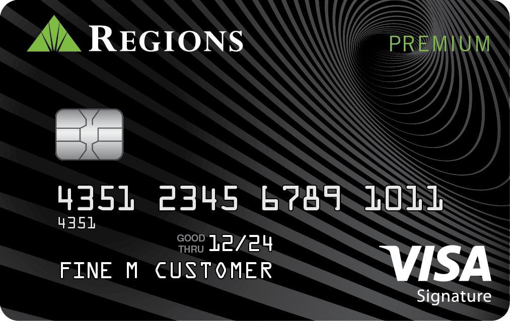 Tarjeta de crédito Visa Premium de Regions