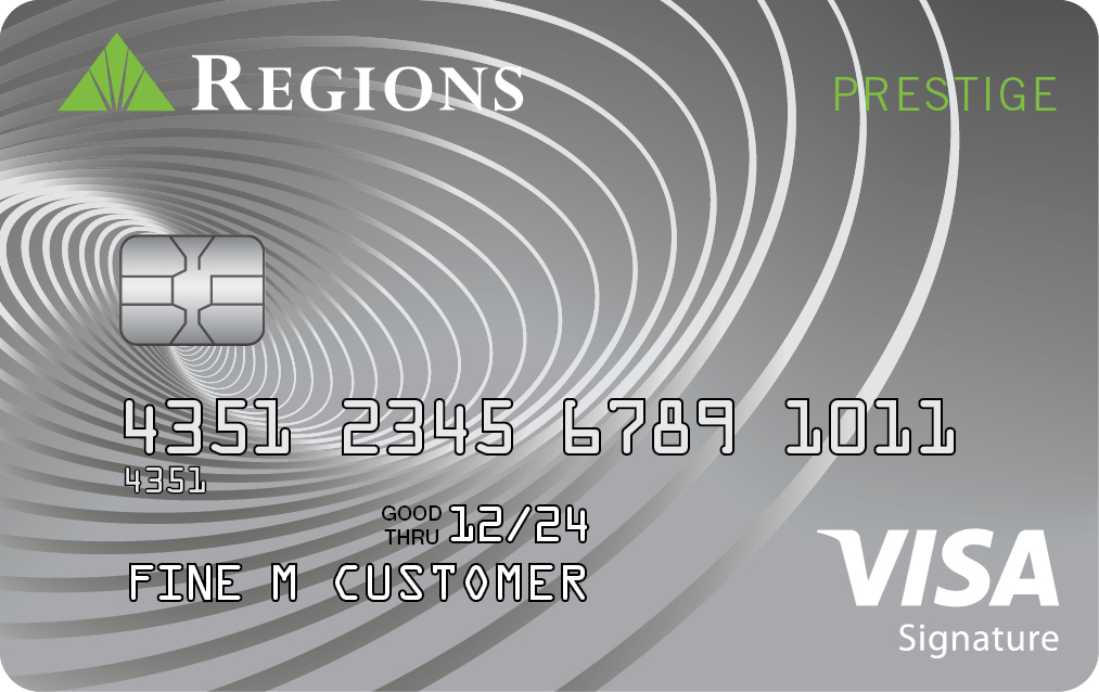 Tarjeta de crédito Visa Prestige de Regions