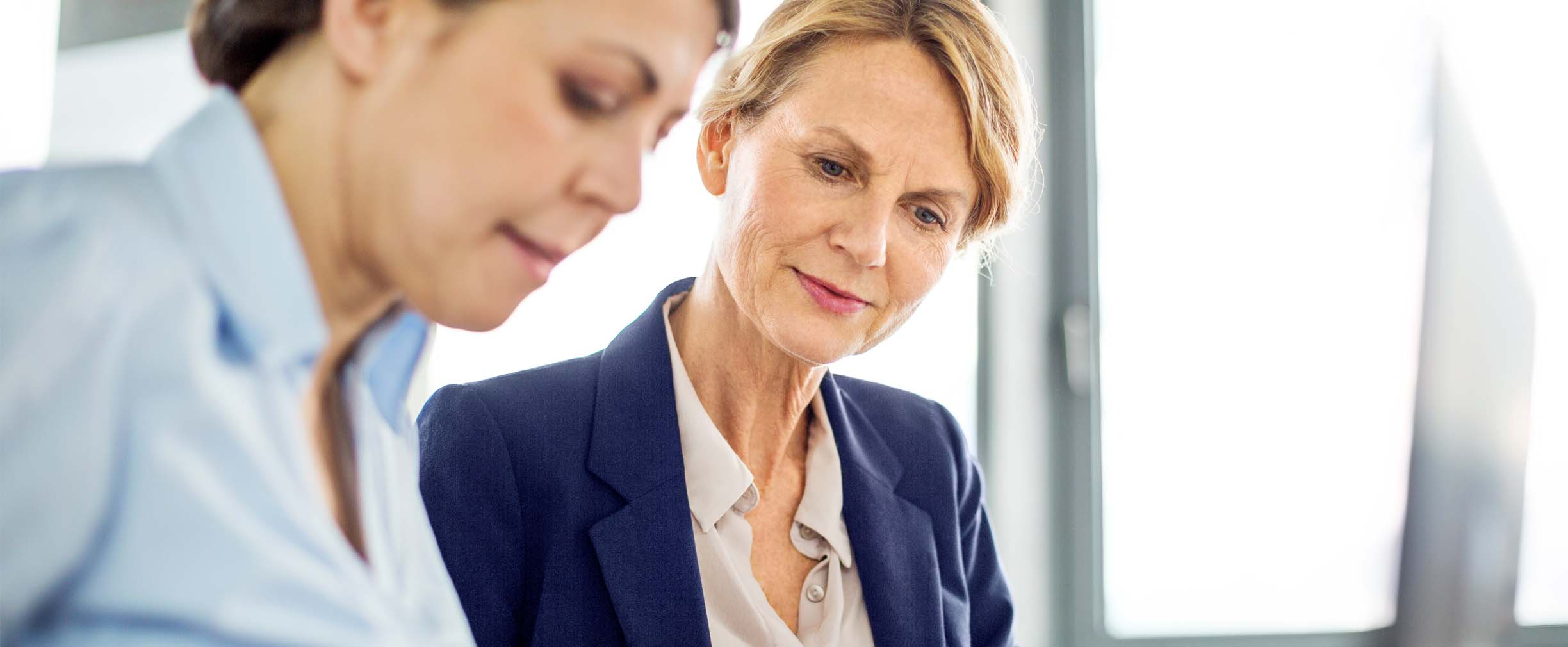 employer reviewing retirement plans