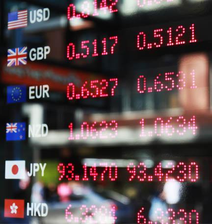 tasas de cambio de divisas
