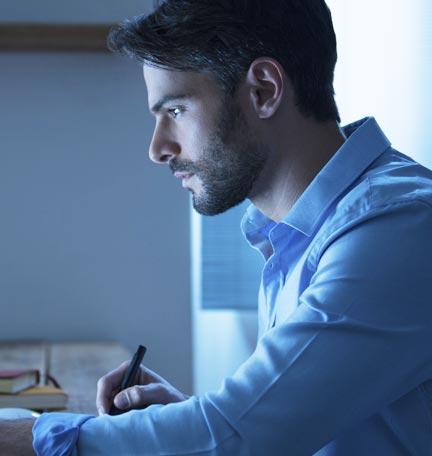 hombre de negocios planificando para el futuro