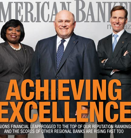 Regions fue nombrado como el banco de mejor reputación en los EE. UU.