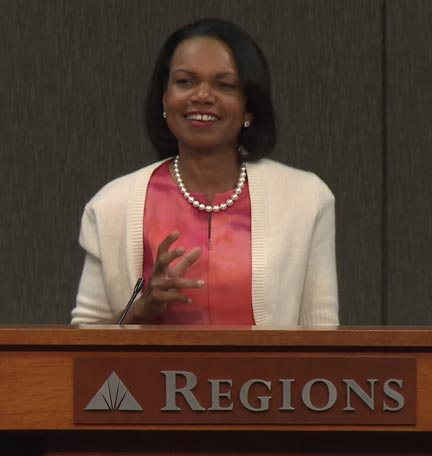 Video: Condoleeza Rice Challenges Students to Persue Passion