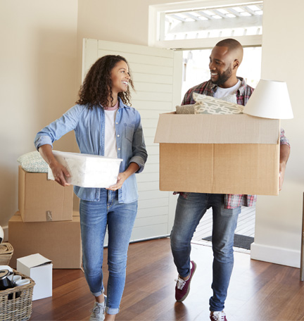 couple moving into home