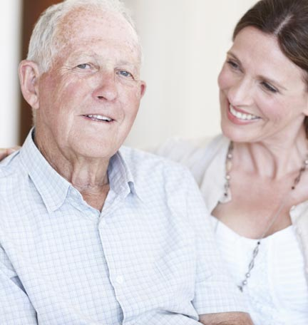 cuidado de un padre anciano