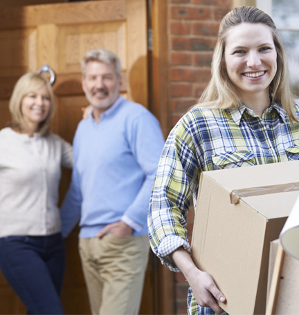 daughter moving out of parent's home