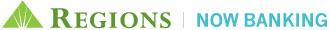 Regions Now Banking logo.