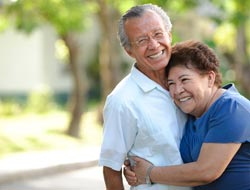 picture of older couple smiling