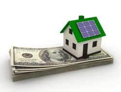 picture of house with solar panel on roof to Save with a Home Energy Efficiency Assessment